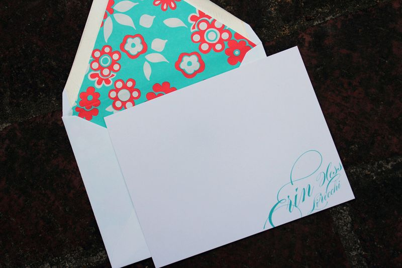 Personalized note cards callie